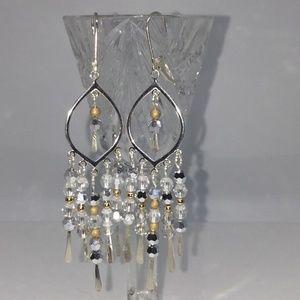 Jewelry - Sterling Silver Chandelier Leverbacks With 14K GF